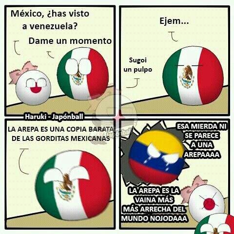Vivan las arepas - meme