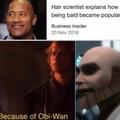 Alta facha el Obi-Wan pelado