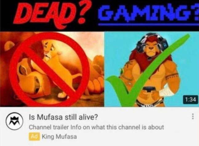 Mufasa gamer - meme