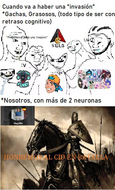 Defenderemos con honor en toda batalla - meme