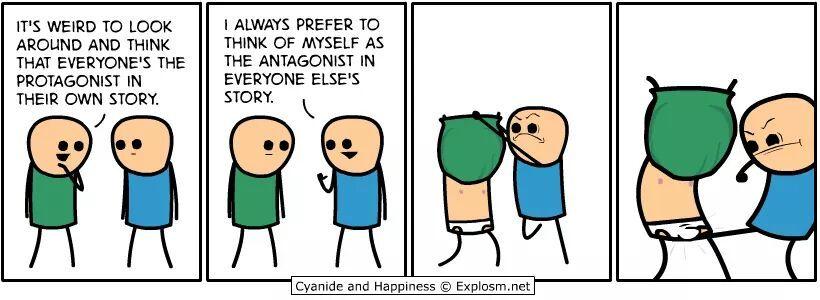 The antagonist - meme