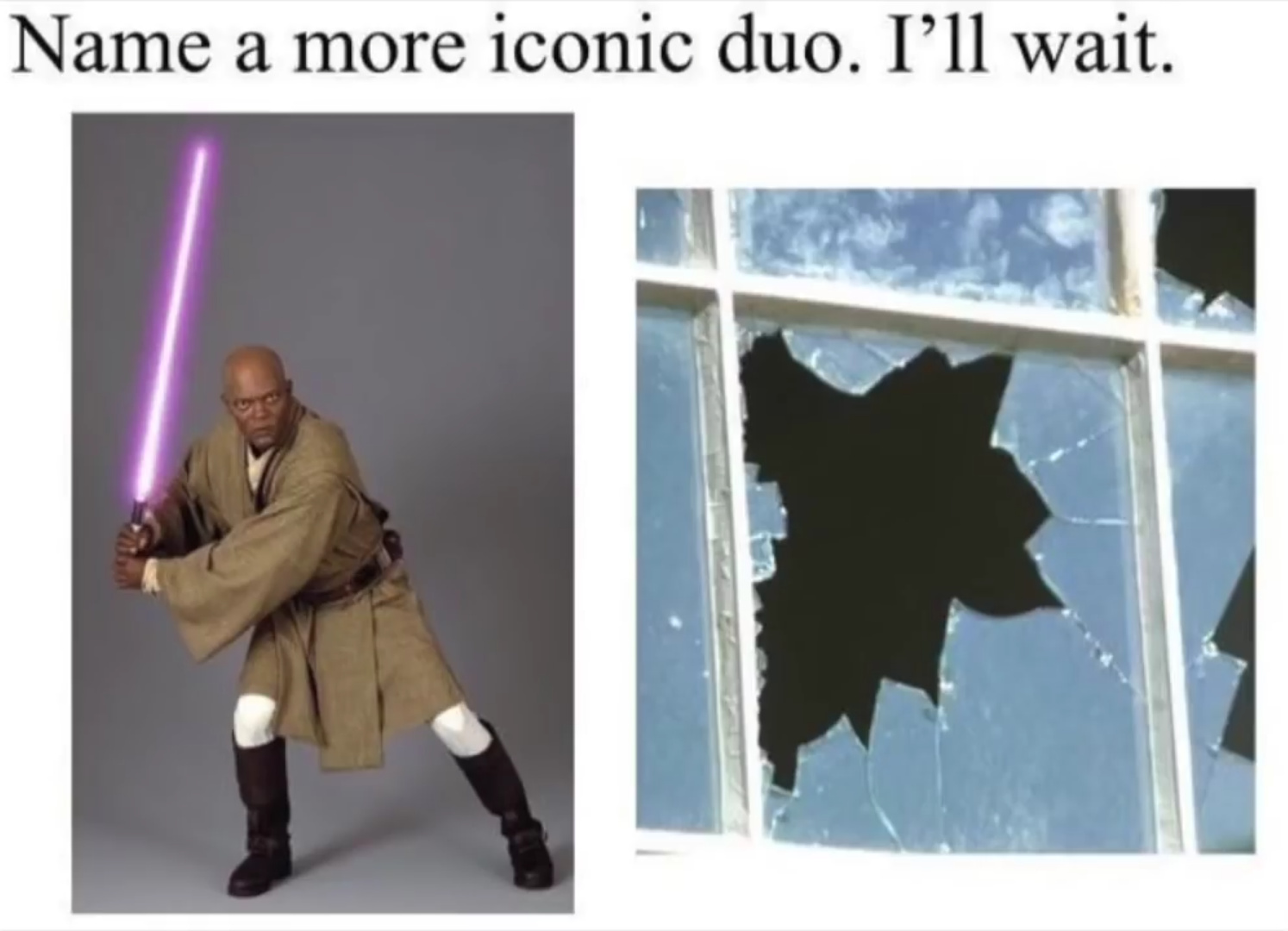 Master Windu fell of the windu hehe - meme