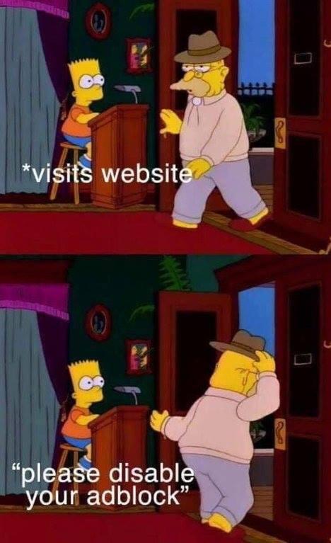 Please disable your adblock - meme