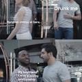 I get a bit hetero when I drink
