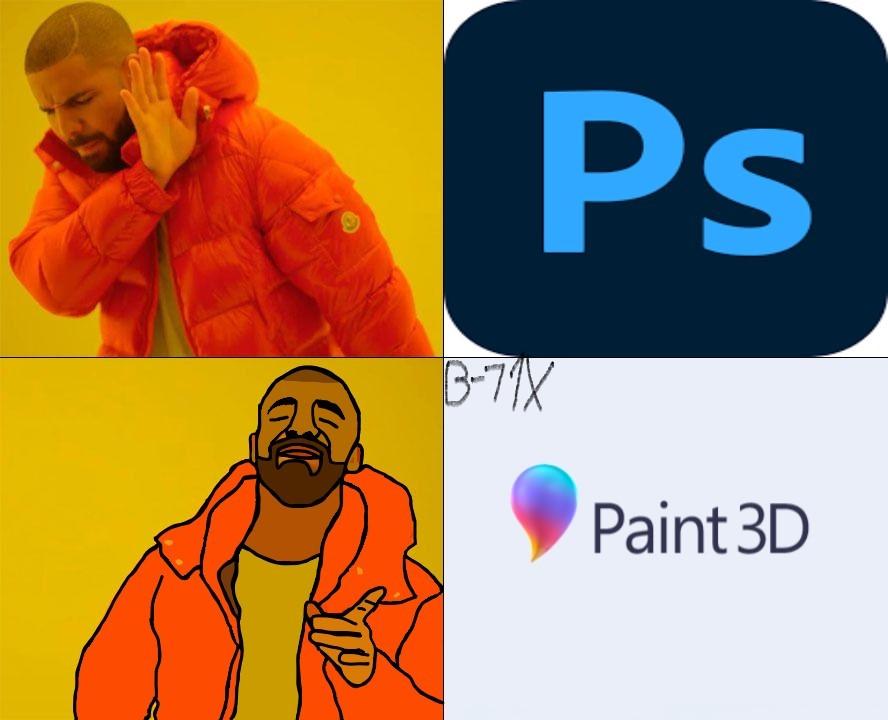 Uso Paint 3d para editar. - meme