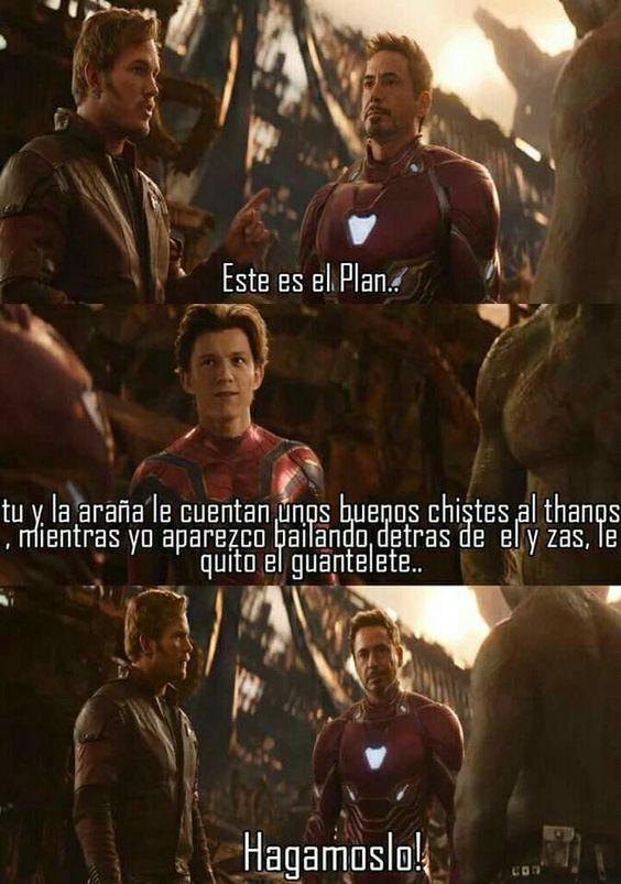 El plan para quitarle el guantelete a Thanos - meme