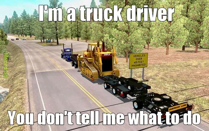 Game: American truck sim-photo by Blane Garcia - meme