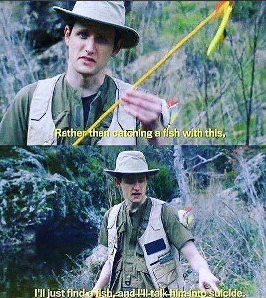 Me, fishing - meme