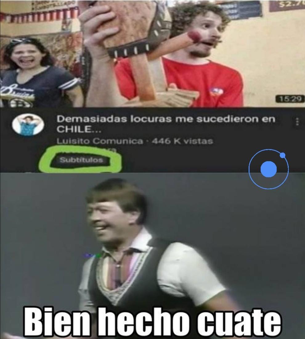 El título conoce Chile - meme