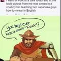 Share your wisdom cowboy