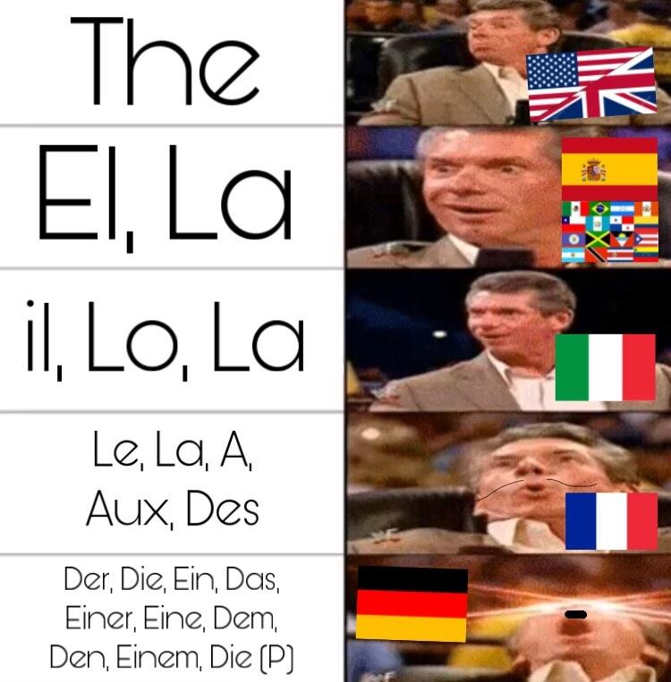 el alemán es complicado - meme