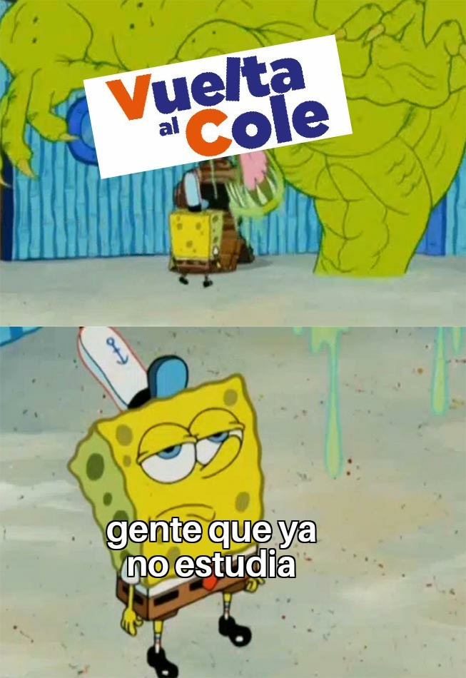 Vuelta al cole - meme