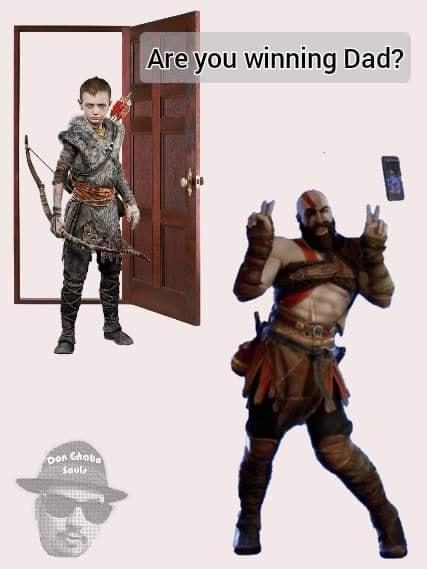 Kratos trolo - meme