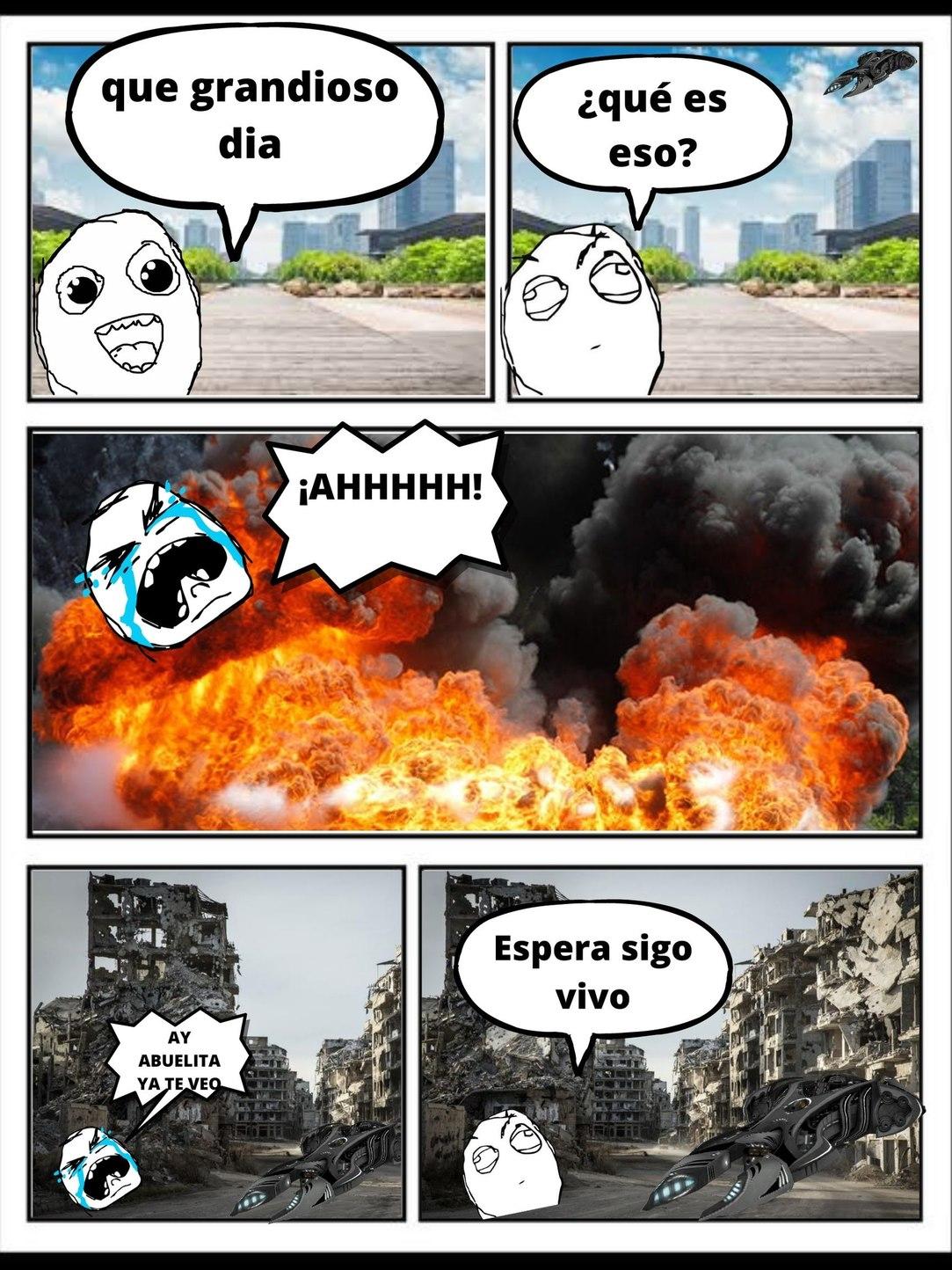 CAPITULO 0 DE HEROES DEL MAÑANA, esperense que todavia no acabo solo es una parte del comic - meme