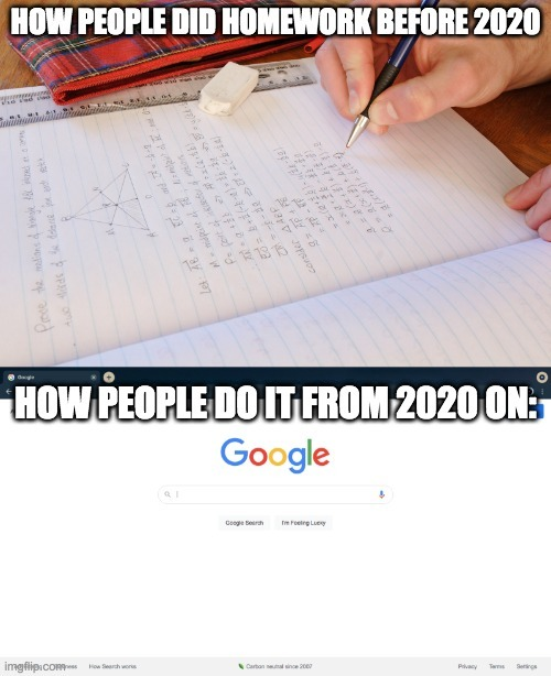 Homework be like - meme