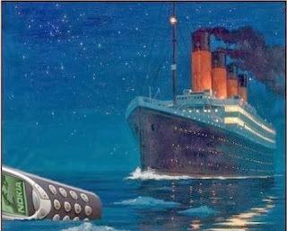 Titanic and nokia - meme