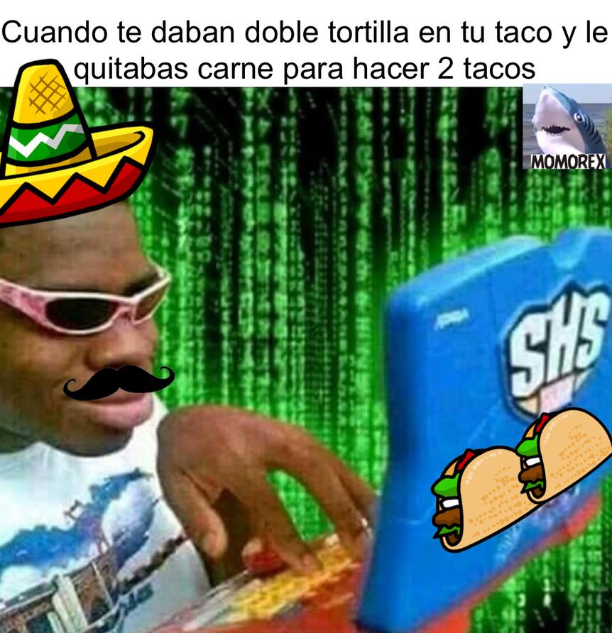 Hacker de tacos - meme