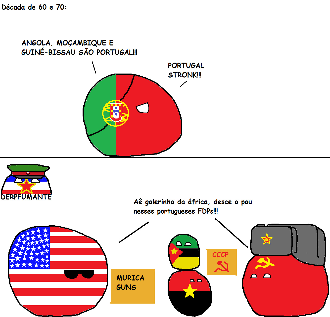 Guerra do ultramar 1961-1974 - meme