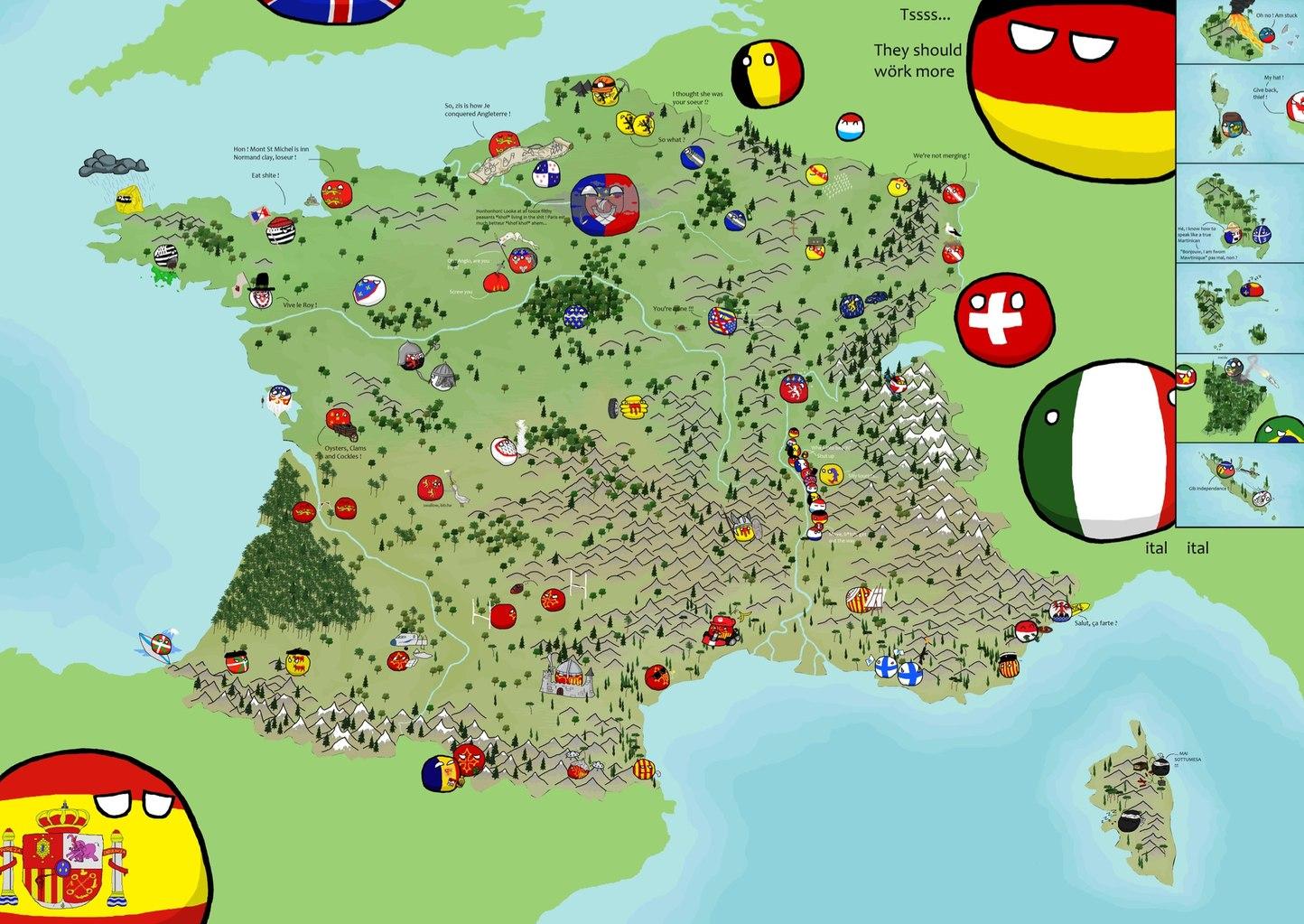 Y'a même un poland ball Rhône-Alpes xD - meme