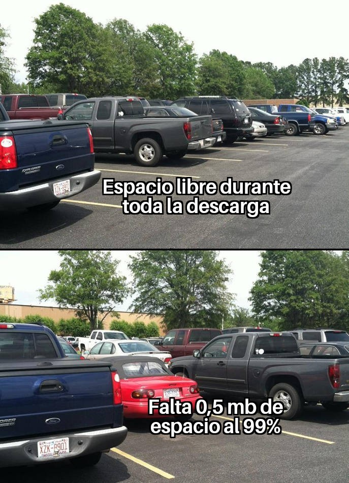 Parking descarga - meme