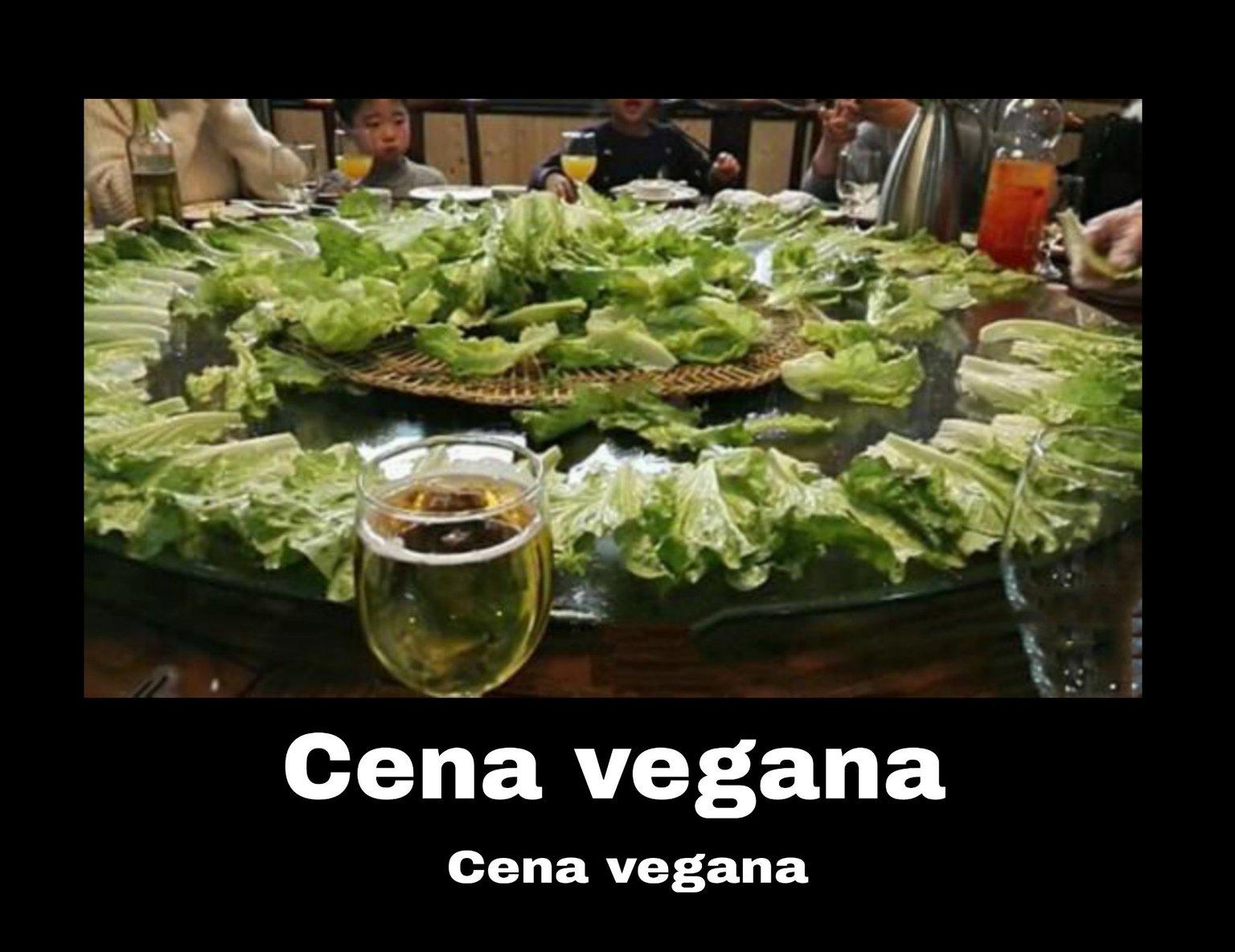 Cena vegana - meme