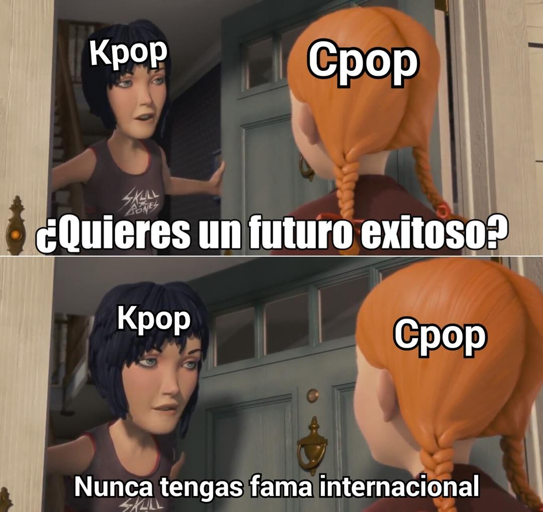 Por di no lo saben,El Cpop es pop chino que se parece al kpop pero mucho mas ching chang chong - meme