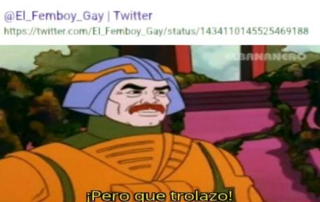 La cuenta de twitter del que haga chistes del autor :trollface: - meme