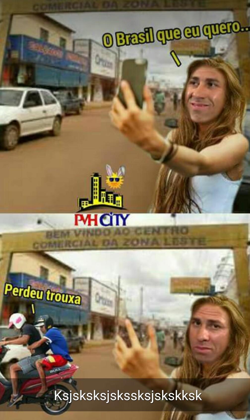 O brasileiro - meme