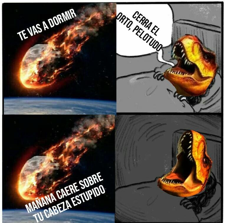 Se asustó el Rex - meme