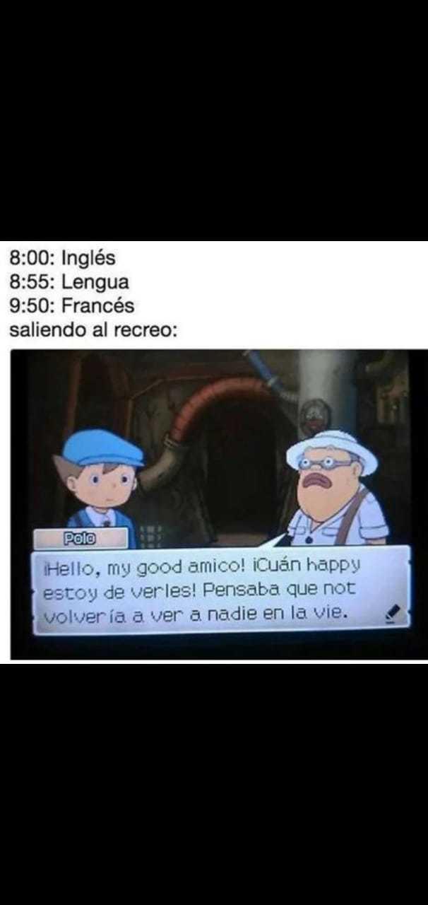 Idiomas querido :v - meme