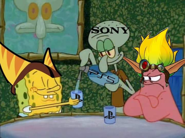 Sony olvida a jak pero se la mama a ratchet - meme
