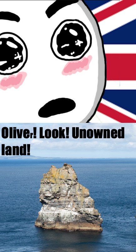 by the order of the queen tis laund is naow unde(r) the British roole - meme