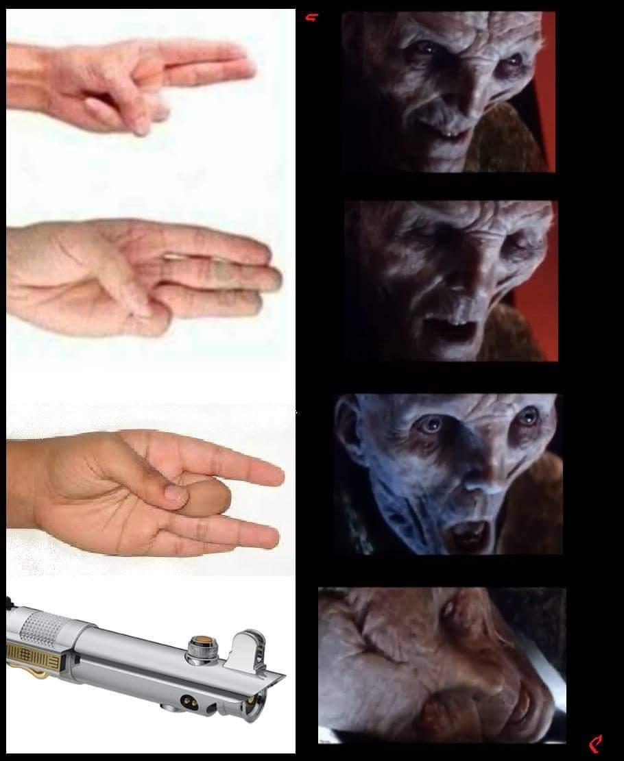 ( ͡° ͜ʖ ͡°) El líder supremo Snoke es un loquillo - meme