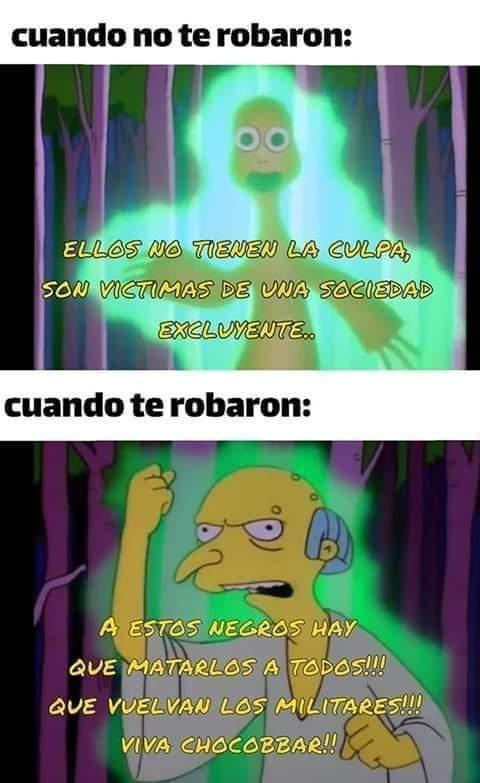 Malditos zurdos choriplaneros - meme