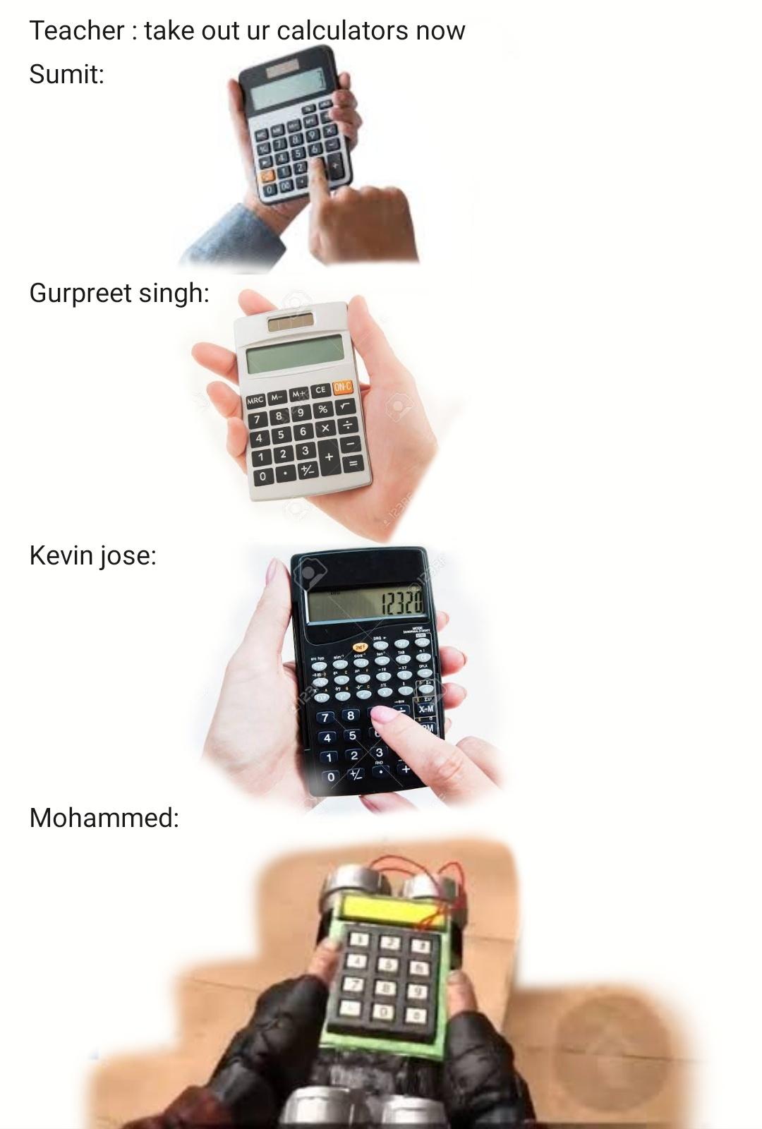 Analysis the calculator - meme