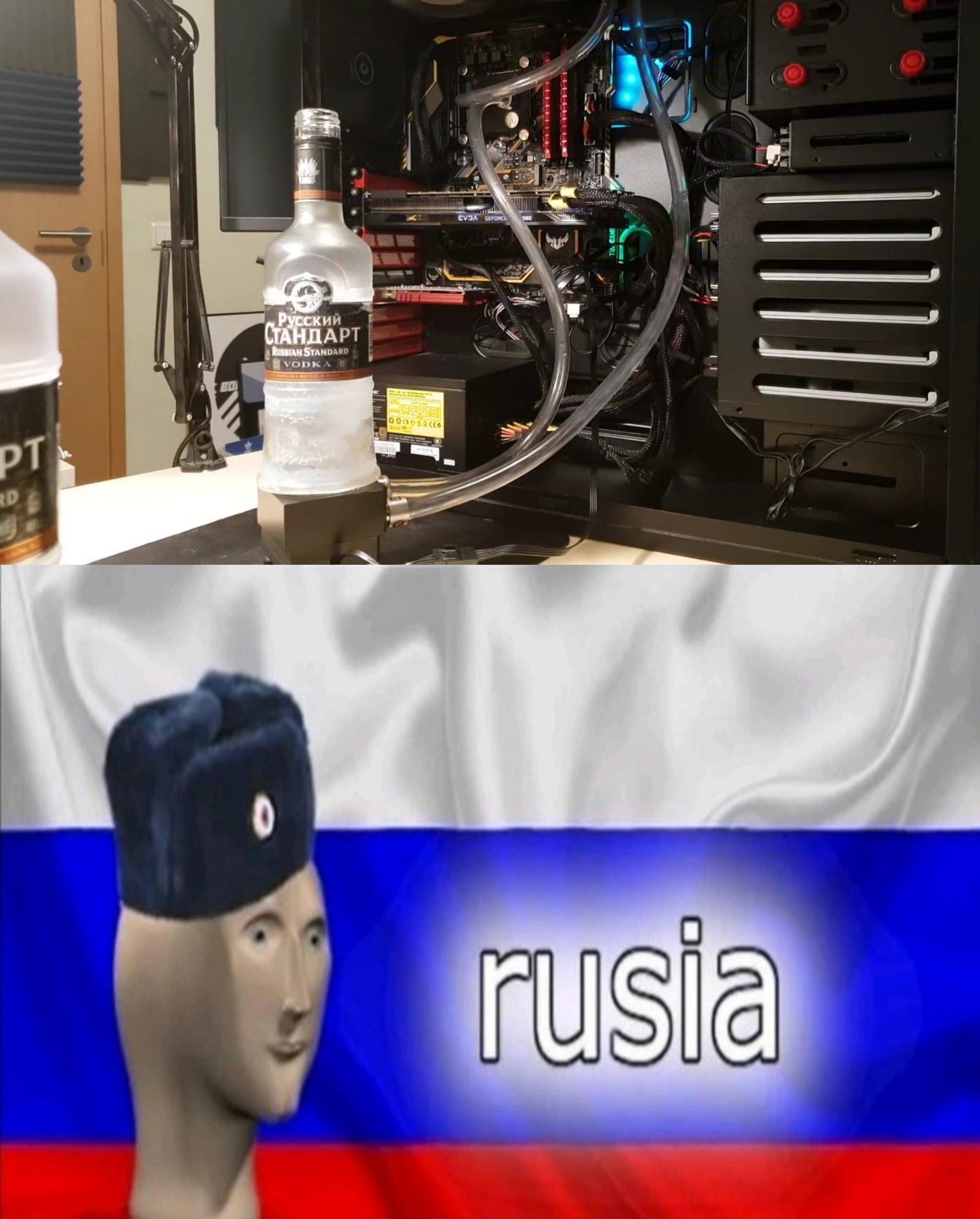 refrigeración líquida rusa - meme