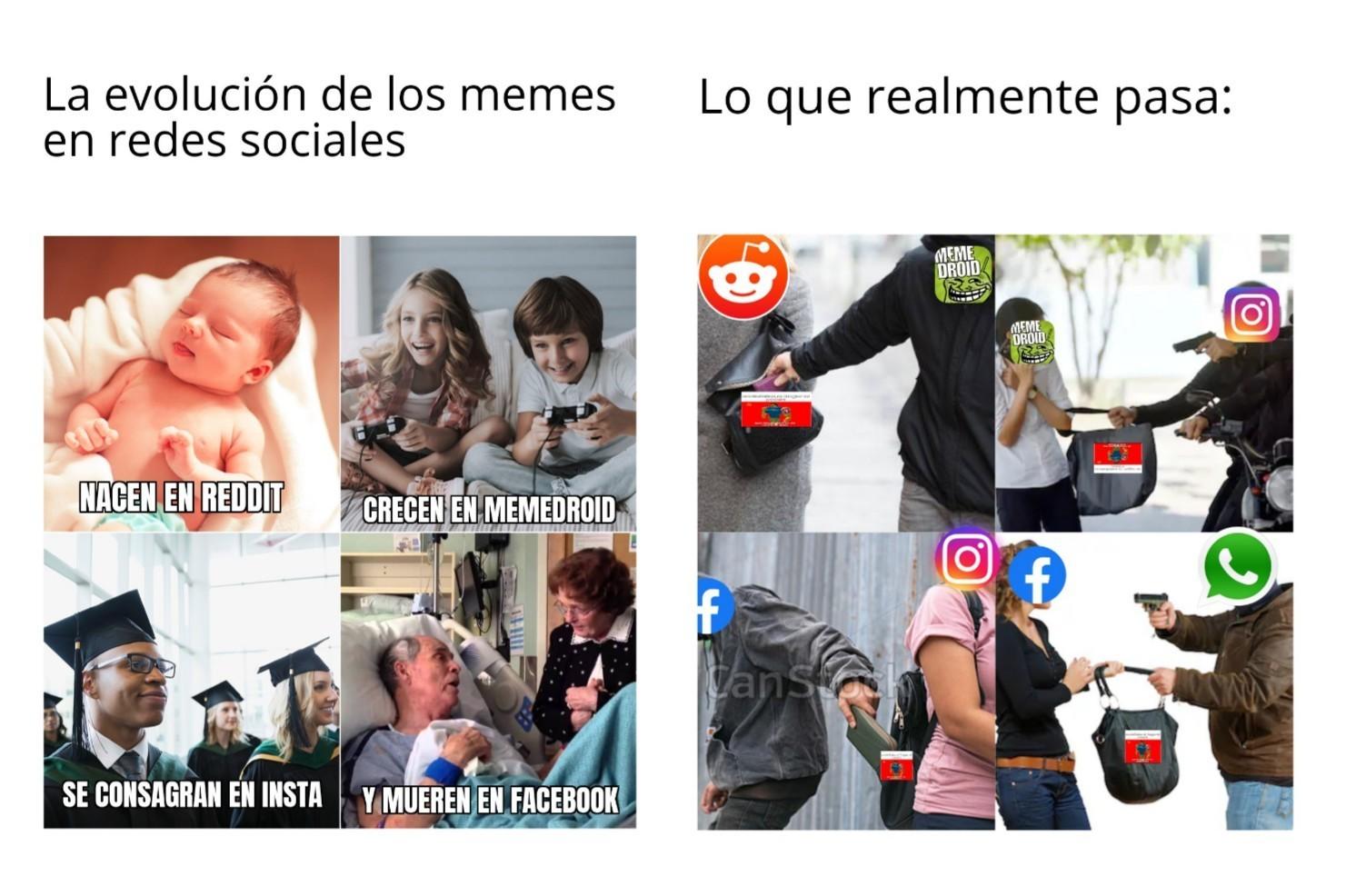 Cuando llega a Facebook ya ha pasado 20 veces de moda - meme