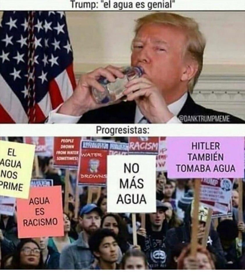 Maldito agua fascistas >:(((( - meme