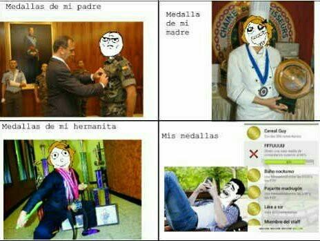 Medallas. - meme