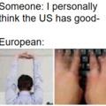 European and Mericans having a conversation