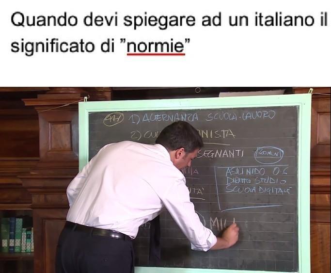 Il secondo commento è di Renzi - meme