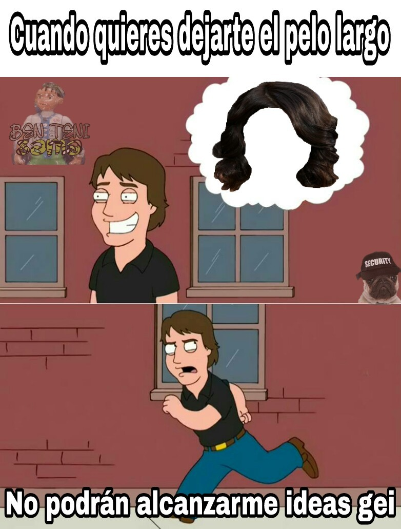 Cortese el pelo gei - meme