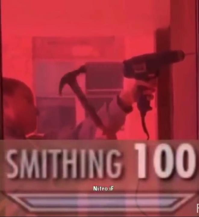 Smithing 100 - meme