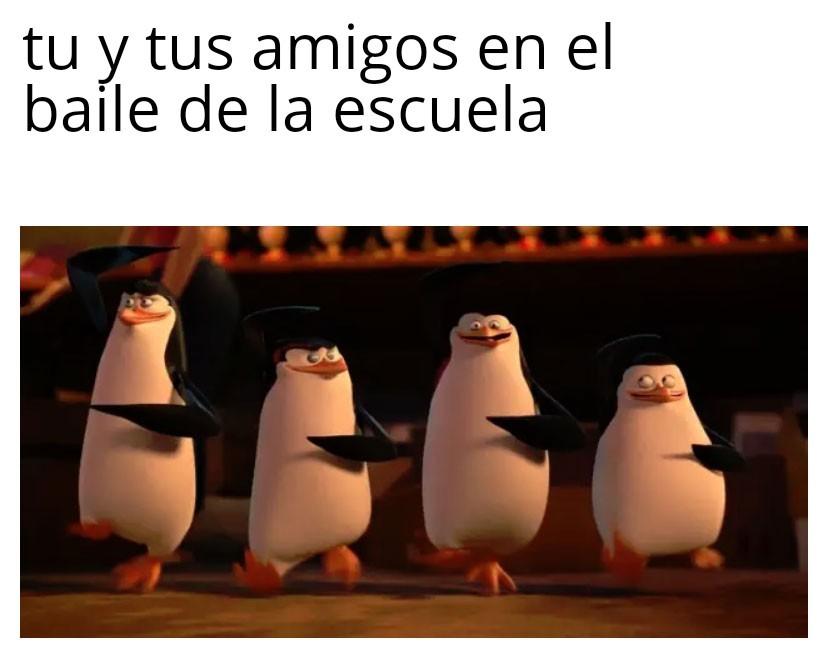 Esos pinguinos - meme