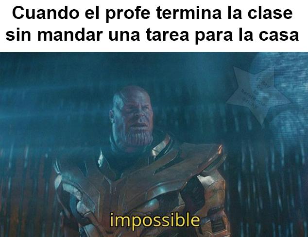 Mandar una tarea - meme