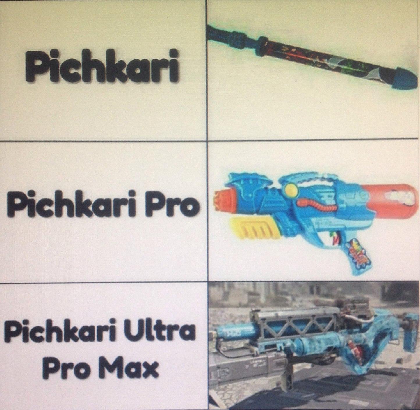 Para los que no entienda el pichkari es una marca de pistolas de agua - meme
