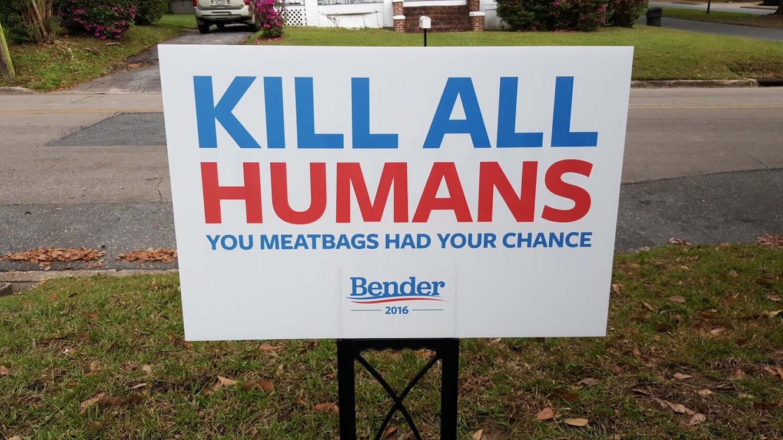Bender for president - meme