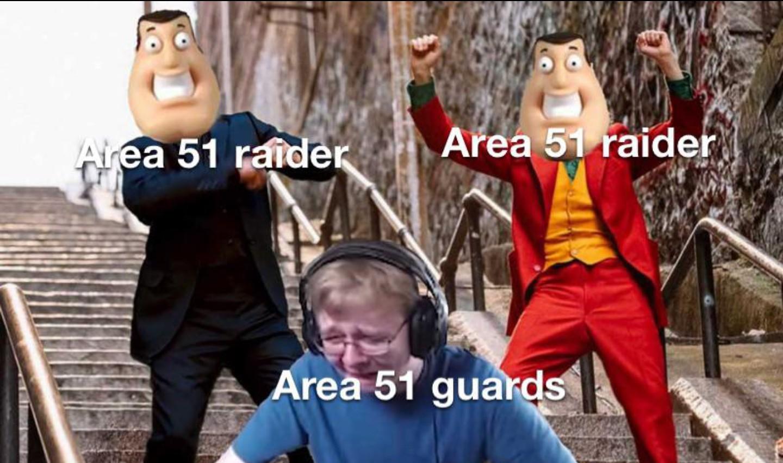 Queda poco para el asalto al area 51 - meme