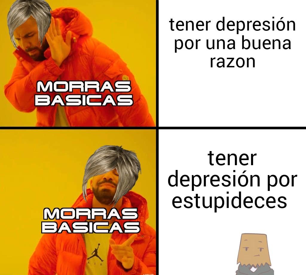 Típico de morras basicas - meme