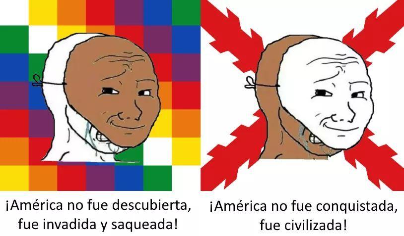 Feliz día de la hispanidad - meme